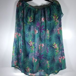 Hawaiian floral bathing suit cover sleeveless